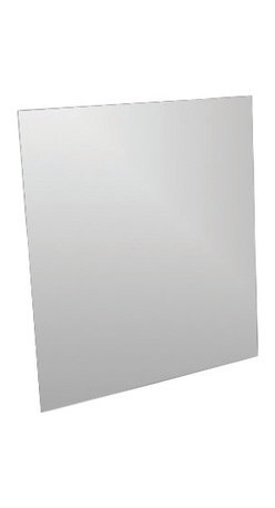 "Adhesive Square Mirror 11.8-Inch X 11.8-Inch - This adhesive square mirror for bathrooms will add an elegant ambiance to any room. Fast and easy, you just have to position the adhesives on the back of the mirror and stick it on the wall or tile wall. Now you can give an ordinary room a ""designer's touch"" in minutes with this lightweight mirror. Length 11.8-Inch, width 11.8-Inch and thickness 0.11-Inch. Only apply, peel and stick the mirror to smooth, clean, and fully cured painted surfaces. Do not apply, peel and stick the mirror to fresh paint, or to delicate surfaces like fabric and wallpaper. Clean with warm soapy water. Clever and practical, this adhesive square glass mirror will give your bathroom a modern and elegant style! Complete your decoration with other products of the same collection. Imported."