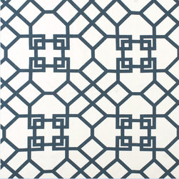 Gated Ink - CB Upholstered Collection Fabrics - Gated Ink is an abstract 100% Linen blue and white fabric. Coach Barn has proudly paired with a renowned manufacturer to create a collection of quality crafted, American-made upholstered furniture featuring a wide selection of fabrics and leathers.