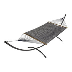 Phat Tommy - Sunbrella Hammock in Indigo Luxe - The Phat Tommy Sunbrella Dupione Hammock is part of Outdoor Oasis Line and is our most durable and beautiful outdoor hammock. For your outdoor room or by the pool, Phat Tommy Sunbrella products give you the sophisticated style you want with the protection you need. Sunbrella's tough, long-lasting fabrics handle the worst Mother Nature can give, year after year. From the baking sun to endless rain, Phat Tommy Outdoor Oasis products look great in any season.