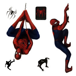 Berlin Wallpaper - Marvel Spiderman 2 Stickers Superhero Self-Stick Decals - FEATURES: