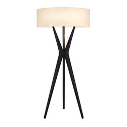 Sonneman Lighting - Bel Air Floor Lamp by Sonneman Lighting - The Sonneman Bel Air Floor Lamp is a reverential nod to the mid-century underpinnings of design culture in the early 1960's, especially in Southern California. Stabilized by a dramatic Satin Black tripod aluminum base and topped with a modern Off-White linen drum shade, the Bel Air Floor Lamp is available in two sizes. A commendable consideration for commercial spaces. Sonneman A Way of Light is the namesake of founder and lighting designer Robert Sonneman. It was formed to create contemporary lighting that best exemplifies today's cosmopolitan American style. Sonneman Lighting fixtures are elegant and refined, decidedly modern yet clearly influenced by classic 20th century period styles.