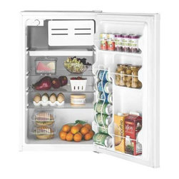 GE - GE Space Maker Refrigerator 4.4 Cu. Ft.. White - Features: