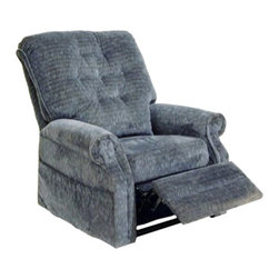 "Catnapper - Catnapper Patriot Power Lift Full Lay-Out Recliner in Slate - Catnapper - Recliners - 4824180053 - The Patriot ""Power Lift"" Full Lay-Out Recliner by Catnapper combines style, comfort and functionality. This traditionally styled recliner features elegant button tufted back, sturdy roll arm and very soft chenille fabric upholstery available in autumn, vino, celery, and slate. With its steal seat box it provides 350 Lb. weight capacity. This amazing chair that offers full layout comfort will be enjoyed for years to come!"