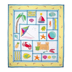 Patch Quilts - Summer Fun King Quilt - -Constructed of 100% Cotton  -Machine washable; gentle dry  -Made in India Patch Quilts - QKSFUN