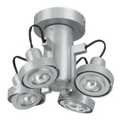 CAL Lighting - Cal Lighting CE-964/GU10-BK 4 Light Quad Spot Fixtures Semi Flush by Cal - 120V, GU10, 4 LIGHTS, 50W MAX EA TR