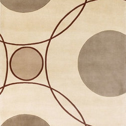 """Kas - Contemporary Signature 9'3""""x13'3"""" Rectangle Ivory Area Rug - The Signature area rug Collection offers an affordable assortment of Contemporary stylings. Signature features a blend of natural Ivory color. Hand Tufted of 100% Wool the Signature Collection is an intriguing compliment to any decor."""