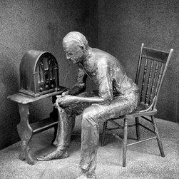 "Fireside Chat, Roosevelt Memorial, Washington DC Print, Black & White, 12"" X 16"" - Fireside Chat, Roosevelt Memorial, Washington DC"