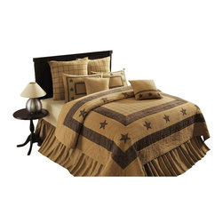 India Home Fashions Burlap Star Bedskirt Queen This