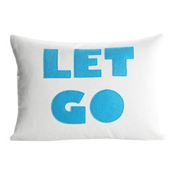 alexandra ferguson llc - Let Go, Cream Canvas/Turquoise - No need to carry the world on your shoulders. MADE IN THE USA