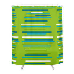 Crash Pad Designs - Renee Pedro Bali Shower Curtain - The fun doesn't have to stop at the bathroom door. Our funky shower curtain will make your bathroom smile.