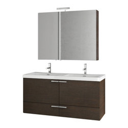 ACF - 47 Inch Wenge Bathroom Vanity Set - Add this luxury, contemporary bathroom vanity to your already modern & contemporary bath.