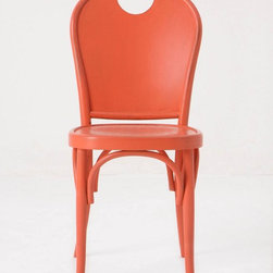 Henri Dining Chair, Pink - This is a nice take on the bentwood chair: modern with a pop of color. I like how this livens up a space.