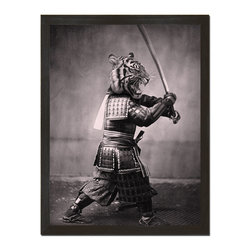 Sharp Shirter - Samurai Tiger Art Print - Tigers are cool, but samurai tigers are cooler!