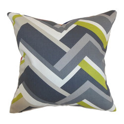 "The Pillow Collection - Hoonah Geometric Pillow Grey 18"" x 18"" - Chic and unconventional, this throw pillow comes with understated elegance. This accent pillow features a geometric print pattern in shades of gray, green and white. Ideal for home and office use, this indoor decor pillow brings a modern twist to your interiors. This square pillow mixes well with solids and other patterns. Crafted from 100% plush cotton fabric. Hidden zipper closure for easy cover removal.  Knife edge finish on all four sides.  Reversible pillow with the same fabric on the back side.  Spot cleaning suggested."