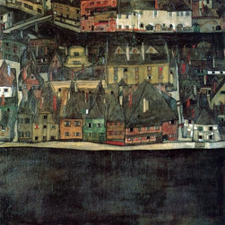 """Art MegaMart - Egon Schiele The Small City II - 20"""" x 20"""" Premium Canvas Print - 20"""" x 20"""" Egon Schiele The Small City II premium canvas print reproduced to meet museum quality standards. Our museum quality canvas prints are produced using high-precision print technology for a more accurate reproduction printed on high quality canvas with fade-resistant, archival inks. Our progressive business model allows us to offer works of art to you at the best wholesale pricing, significantly less than art gallery prices, affordable to all. We present a comprehensive collection of exceptional canvas art reproductions by Egon Schiele."""