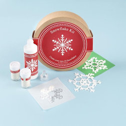 Kids Snowflake Making Kit - A snowflake kit! My family and I would have so much fun doing this on a wintery afternoon.