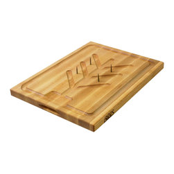 John Boos - Boos SLIC Carving Board - Meat Spikes & Groove Ring and Tree - Unique Boos carving board with convenient features to help make carving and clean up easier: spikes to hold meat in place and a clever juice groove design.