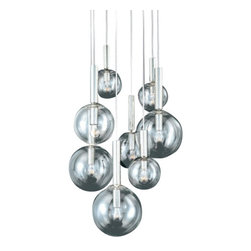 """Sonneman - Sonneman Bubbles 8-Light Pendant - The Bubbles 8-Light Pendant by Sonneman has been designed by Robert Sonneman. The Bubbles 8-Light Pendant this excellent piece from our Pendant;Mini-Pendant; catalog created by Sonneman. It is a Modern / Contemporary; Transitional fixture that is bound to impress. Also, every new Pendant;Mini-Pendant; comes the  60 Watt G25 Medium Base bulb without any additional charge to you.   Product description:  The Bubbles 8-Light Pendant by Sonneman has been designed by Robert Sonneman. The Bubbles 8-Light Pendant this excellent piece from our Pendant;Mini-Pendant; catalog created by Sonneman. It is a Modern / Contemporary; Transitional fixture that is bound to impress. Also, every new Pendant;Mini-Pendant; comes the  60 Watt G25 Medium Base bulb without any additional charge to you.  Details:      Manufacturer:     Sonneman         Designer:    Robert Sonneman        Made in:    USA        Dimensions:     Shade A(2):Diameter:8"""" (20.32 cm ) X Height:22"""" (55.88 cm),       Shade B(3):Diameter:10"""" (25.4 cm) X Height:22"""" (55.88 cm),      Shade C(3):Diameter:12"""" (30.48 cm) X Height:22"""" (55.88 cm), Canopy Diameter:18"""" (45.72 cm)         Light bulb:     8 X G25 Medium Base Max 60W Incandescent (not included)      Material:     Glass"""