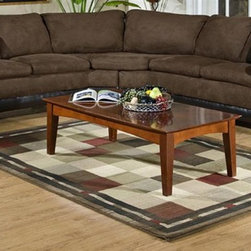 Chelsea Home - James 2-Pc Sectional Sofa in Bicast Chocolate - Coffee table not included. Includes toss pillows. Seating comfort: Medium. Hardwood frame and engineered wood products. Seat cushion is attached. Seat back cushion is attached. Seat cushion is not reversible. No sag sinuous spring system used to maintain a uniform seating area. Dacron wrapped 1.5 density foam cushions. Made from polyester, PVC blend and hardwood. Bulldozer java color. Made in USA. No assembly required. 73 in. L x 35 in. W x 38 in. H (270 lbs.)