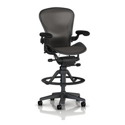 Herman Miller - Aeron Stool, High Height - The Aeron Stool from Herman Miller is just like the iconic Aeron Chair only two feet higher.
