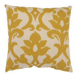 Pillow Perfect - Azzure 16.5-Inch Throw Pillow in Marigold - - Cotton-Poly Blend  - 100% Virgin Recycled Polyester Fill  - Sewn Seam Closure  - Spot Clean Only  - Made In USA Pillow Perfect - 472980