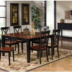 Progressive Furniture Cosmo 5 Piece Counter Height Dining Table Set - Make meal time even more miraculous with the Progressive Furniture Cosmo 5 Piece Counter Height Dining Table Set. This set includes a table and four chairs, each crafted of durable wood with a black and cherry finish. The table has an extension leaf to accommodate more guests.