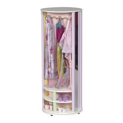 Guidecraft - Guidecraft Dress-Up Carousel - Guidecraft - Kids Dressers - G98100 - These pastel and natural revolving carousels