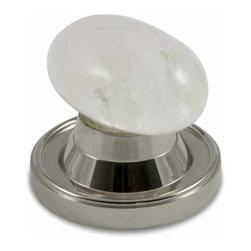 rchsupplyco - Oval Rock Crystal Door Knob - Material: Rock Crystal