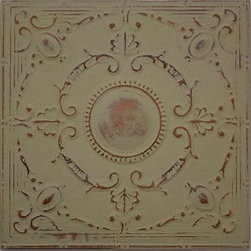 """Baroque Tin Wall Plaque - 24""""x24"""" - This medium size plaque adds visual strength and drama to your walls decor. Sold individually, they are lovely hanging alone they but also work well for large spaces when grouped in differing patterns or finishes. Inspired by the artistic look of old-fashioned tin ceiling tiles, these pressed tin plaques are sure to be a focal point wherever they're displayed. Each plaque is crafted of real tin, and finished in your choice form a variety of available finishes. Use alone or in a gang of 4 for larger spaces."""