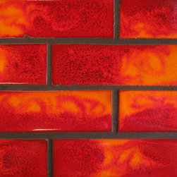 """2""""x6"""" Subway Tile in Fire - 2""""x6"""" Subway Tile - 632 Fire"""