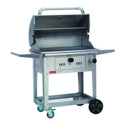 Bull - Bison Charcoal Grill Cart - The Bison Charcoal Cart has a large primary cooking area
