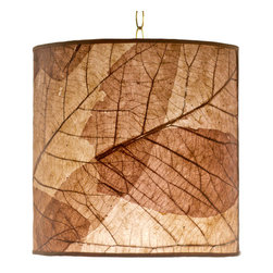 Foreign Affais Home Decor - Tectona Hanging Lamp, Natural - These beautiful hanging lamps are made from natural Teak Leaf. The remarkable contours of these very large leaves shine through the lamps even when not lit but provide an absolutely stunning warm light when lit.