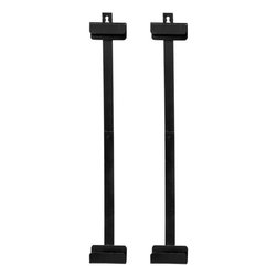 "Oriental Furniture - Silk Screen Brackets - Black - 24"" - An easy and attractive way to display your silk paintings and a more traditional alternative to our Brass Hanging Hardware that is included with our silk paintings."