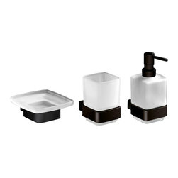 Gedy - 3 Piece Wall Mounted Bathroom Accessory Set - .