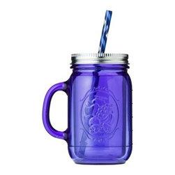 Aladdin Tinted Mason Jar, Blue - Because who doesn't need a purple mason jar mug?