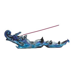 GSC - 12.75 Inch Aqua Blue Dragon Incense Burner - This gorgeous 12.75 Inch Aqua Blue Dragon Incense Burner has the finest details and highest quality you will find anywhere! 12.75 Inch Aqua Blue Dragon Incense Burner is truly remarkable.