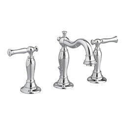 American Standard - American Standard 7440.851.002 Quentin 2-Handle Widespread Bath Faucet, Chrome - This American Standard 7440.851.002 Quentin two handle Widespread Lavatory Faucet is part of the Quentin collection, and comes in a beautiful Chrome finish. This widespread lavatory faucet features a brass construction, ceramic disc valve cartridges, a lead-free design, and an exclusive Speed Connect metal drain. This model is WaterSense certified.