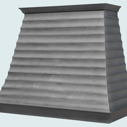 Zinc Hood  |  Handcrafted Metal - Handcrafted Metal makes custom zinc hoods in a variety of styles. We can make them to perfectly accommodate your kitchen, no matter how complicated. With us you can fully customize the size and features according to your vision, and the price will be adjusted to your specifications.