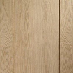Contemporary Doors - Red Oak 1-panel Doors - This is a simple, contemporary 1-panel door made from solid Red Oak hardwood. This door features a very simple flat panel with square sticking. The door is pictured with no finish on the wood, but Red Oak can be stained and finished easily to many different colors.