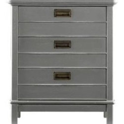 "Coastal Living ResortCape Comber Chairside Chest - This chairside chest has a nautical feel. The inset metal drawer pulls give it a sturdy look and feel. Several finishes are available, but we're really drawn to the ""dolphin"" finish."