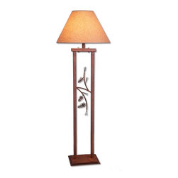Avalanche-Ranch - Cedar Ridge Floor Lamp - Pine Cone - Rustic Table Lamps and Floor Lamps with Pine Cone artwork - Takes (1) 150W Medium bulb(s)
