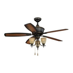 "Vaxcel Lighting - Vaxcel Lighting FN52997 Sebring 52"" 5 Blade Indoor Ceiling Fan with Reversible M - Features:"