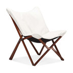 Zuo Modern - Zuo Modern Draper Modern Lounge Chair X-860005 - Curl up in perfect comfort with our Draper lounge chair. The Draper is wrapped in a soft luxurious leatherette on top a wooden collapsible base. Comes in white or black.