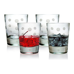 None - Pearls Collection Double Old Fashioned Glasses (Set of 4) - This set of four old-fashioned glasses will make a fine addition to any kitchen or table setting. Stylish enough for use on formal occasions and durable enough for everyday meals, these glasses will provide a elegant way to serve drinks and cocktails.