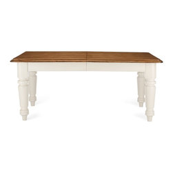 Farmhouse Rectangular Dining Table, Honey/White - Top it all off with a farmhouse table. Round, rectangular, vintage-inspired or vintage, this style invites everyone to take a seat and share a meal and conversation.