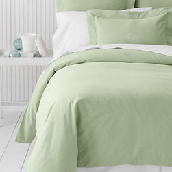 Solid Flannel Duvet Cover - A flannel duvet cover will keep you toasty on those cool nights.
