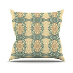 "Kess InHouse - Mydeas ""Fancy Damask Antique"" Brown Teal Throw Pillow (16"" x 16"") - Rest among the art you love. Transform your hang out room into a hip gallery, that's also comfortable. With this pillow you can create an environment that reflects your unique style. It's amazing what a throw pillow can do to complete a room. (Kess InHouse is not responsible for pillow fighting that may occur as the result of creative stimulation)."