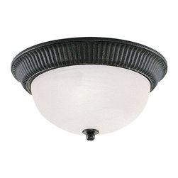 Sea Gull Lighting - Sea Gull Lighting-7709-07-One-light Ceiling Fixture - Breezy, scrolling ironwork in our weathered iron finish, enhances any setting.
