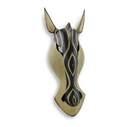 Zeckos - Natural/Black Zebra with Decorative Stripe Wall Mask African Safari Decor 20 In - This zebra wall mask adds an attractive accent to rooms with African safari themed decor. It is hand crafted from lightweight Albesia wood and measures 20 inches tall, 7 inches wide, and 3 inches deep. The mask easily mounts to any wall with a single nail or screw by the hanger on the back. NOTE: These masks are hand carved and hand painted and may have slight variations from the one pictured.