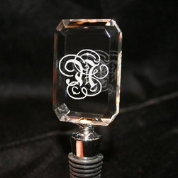 Personalized Wine Bottle Stopper Hand by ArtfulCelebrations - Adding your own personal touch to a bar can be as simple as a monogrammed wine bottle stopper. Even better, these ones are hand-engraved and made of solid crystal-cut glass, meaning you'll be sure to receive something unique you can treasure forever.